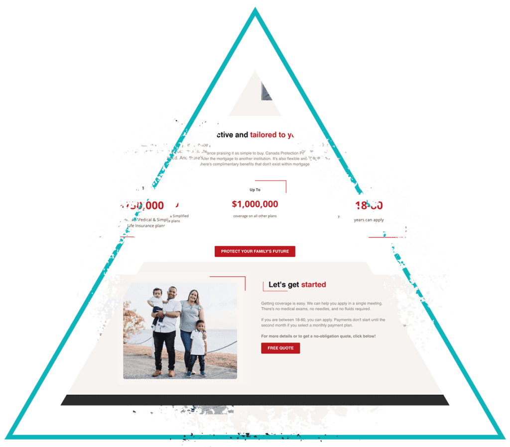 Traingle graphic with free quote