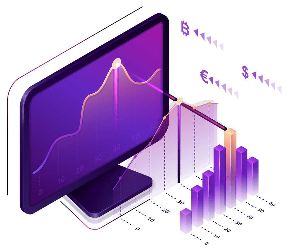 Graphic of Display and Purple Graphs